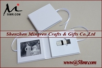 Leather Fabric Linen USB Flash Drive Gift Box