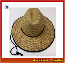 Australia branded straw surf hat with lining to protect