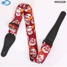 Amazon hot selling skull anime guitar strap for music guitar