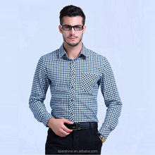 New 2016 Fashion 100% Cotton Mens Plaid Shirts High Quality Long Sleeve Slim Fit Brand Designer Spring Mens Casual Shirts