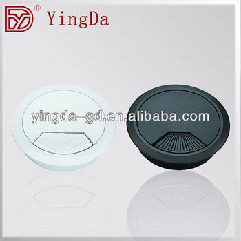 YD-XH06 50/53/60/80mm furniture desk hole covers desk grommet from desk hole covers factory