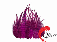 Cheap price plumes bulk dyed magenta saddle grizzly rooster feathers for sale