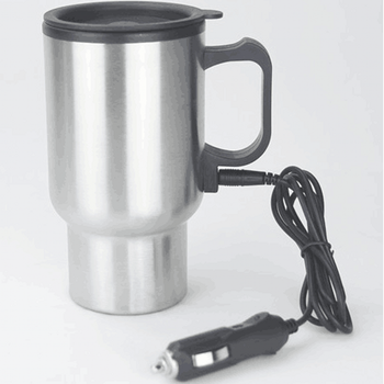 Eco-friendly new designer 450ml double wall stainless steel electric heated mug