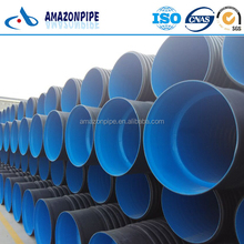 DN110-DN1200mm SN4,SN8 DWC HDPE corrugated plastic drainage pipe