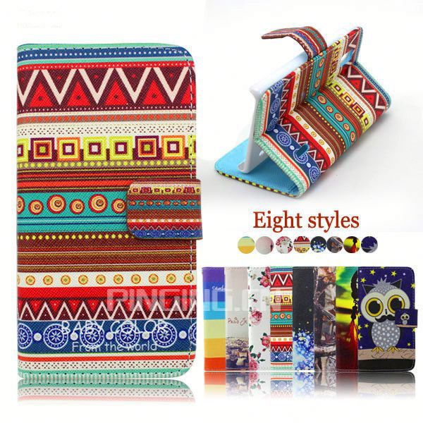 wallet leather flip cover case for lg optimus l3 e400
