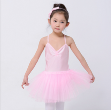 Baby Girl Bubble Skirt Children Brace Lace Tutu Costumes Princess Chiffon Performance Ballet Dance Dress