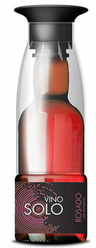 Vino Solo, bobal, rose wine in a PET bottle with glass, single serve, Spanish wine to go