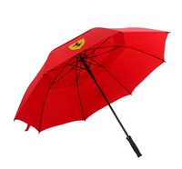 Adertising umbrella with plastic cover and company logo