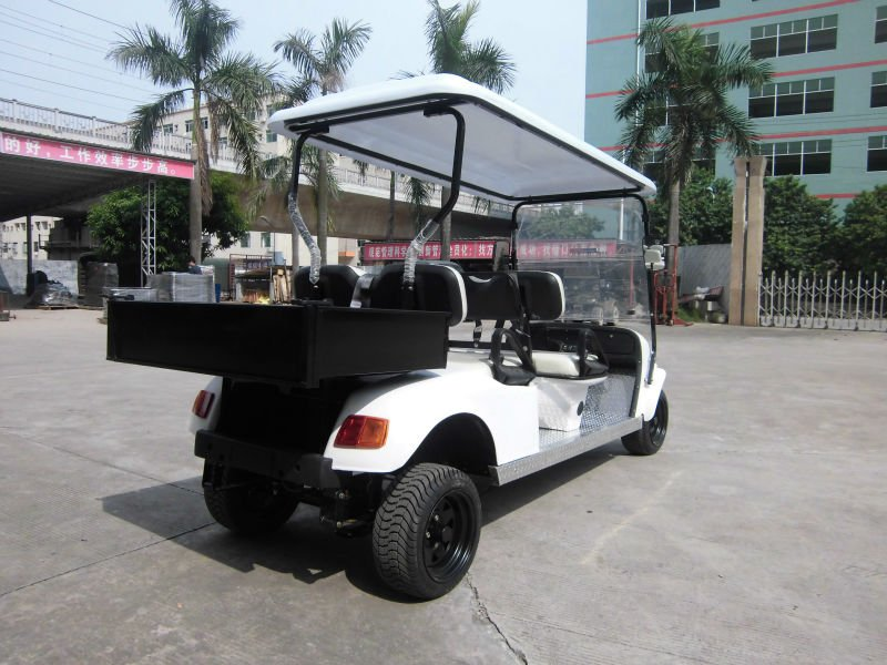 fourstar wholesale electric utility golf car delivery with rear cargo container comes from Chinese factory