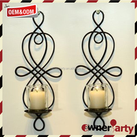 Home Decoration Iron Wholesale Candle Wall Sconces