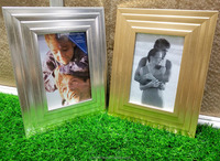 2016 new design Wholesale Cheap morden gold silvery plastics PS photo frame picture frame for decor