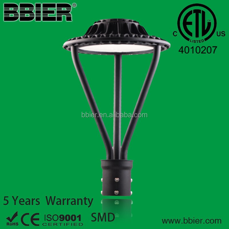 high quality etl 75w commerical pole mount led area light