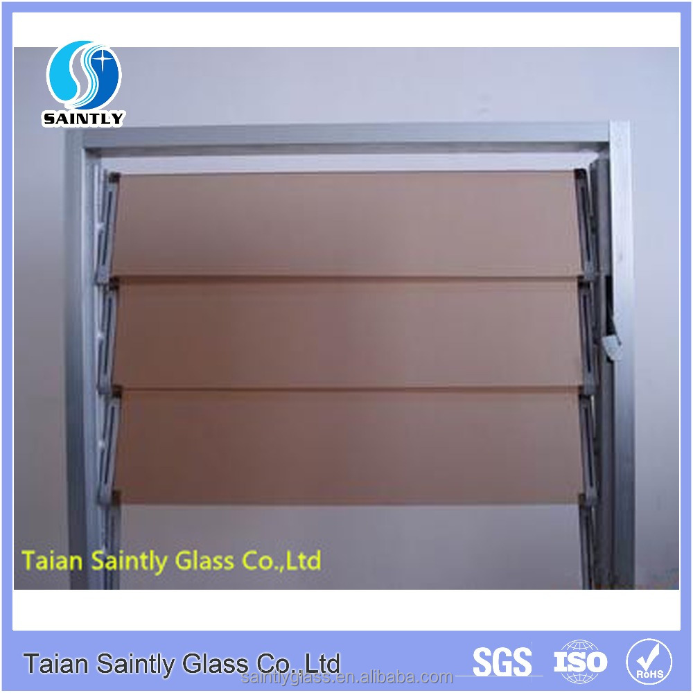 4 6mm brown tempered decorative glass for louver window for Decorative tempered glass panels