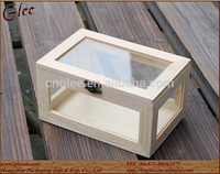 Special Pine Wooden Box Keepsake Storage Boxes With glass lid