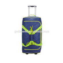 The most popular sports travel bag with tarpaulin bag wheels