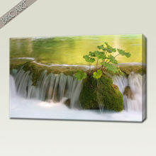 Beautiful Scenery Wall Painting Mountain Forest Waterfall Scenery Art Picture For Inkjet Printing
