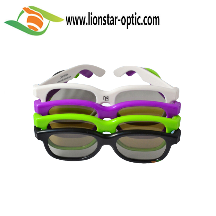 ABS Plastic Black Cinema 3D Glasses , Logo Customized Polarized 3D Glasses