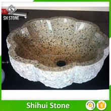 SHS Low MOQ stone hand carved wash basin for various uses