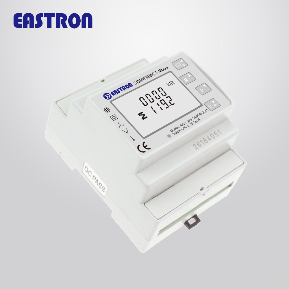 SDM630MCT-Mbus V2 MID approved, din rail energy electric CT connected Sub meter M-bus used for energy monitoring system