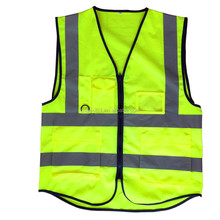 OEM service Unisex Breathable Adults Jackets yellow high visibility reflective safety vest