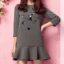 D24223Q 2014 the new autumn/winter women fashion casual dress