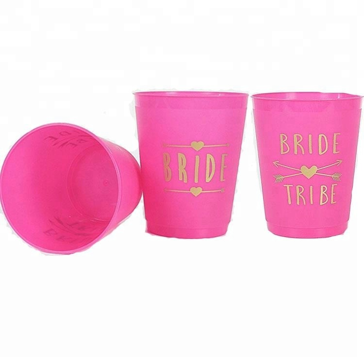 PINK Bride and Bride Tribe Cup Bachelorette Party Game Bachelorette Party Cups