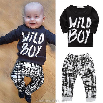 latest best quality letter 2pcs black kids clothes for sale clothes for baby boy clothing