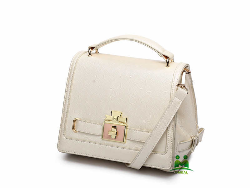 Omeal factory direct sales beige women PU leather bags handbags fashion shoulder bag M-M11 stock fast free shipping DHL
