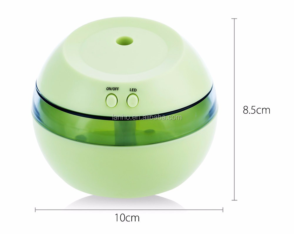 Creative 5V Ultrasonic Humidifier Mini USB Air Humidifier Portable Aromatherapy Machine LED Light Aroma Diffuser for Home Office