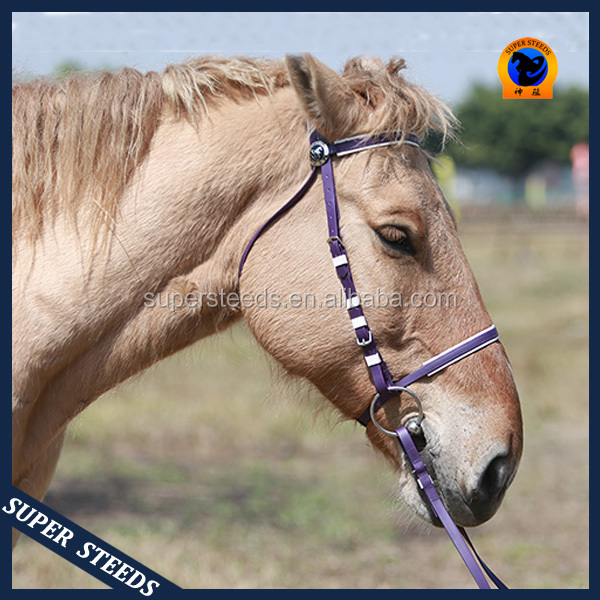 Hot selling top quality PVC horse bridle with one nose ring