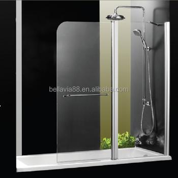 Folding Bath Screen For Bathtub Curved Glass Door Buy