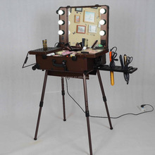 High quality makeup station with lights and mirror