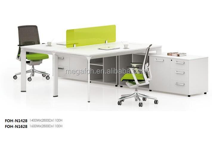 New design 2 person computer desk face to face office desk side table(FOH-N1428)