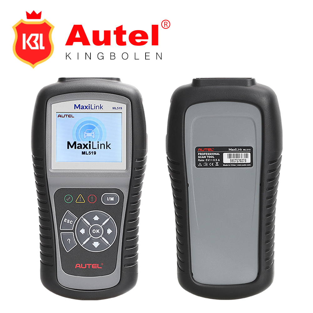 Displays live O2 sensor test data and Graphs data Autel MaxiLink ML519 vehicle fault code reader