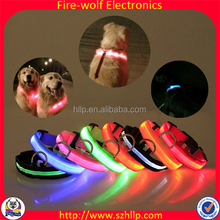 Bearded Collie Led Dog Collars Rechargeable Wholesale Pet Accessory Led Dog Collars Rechargeable