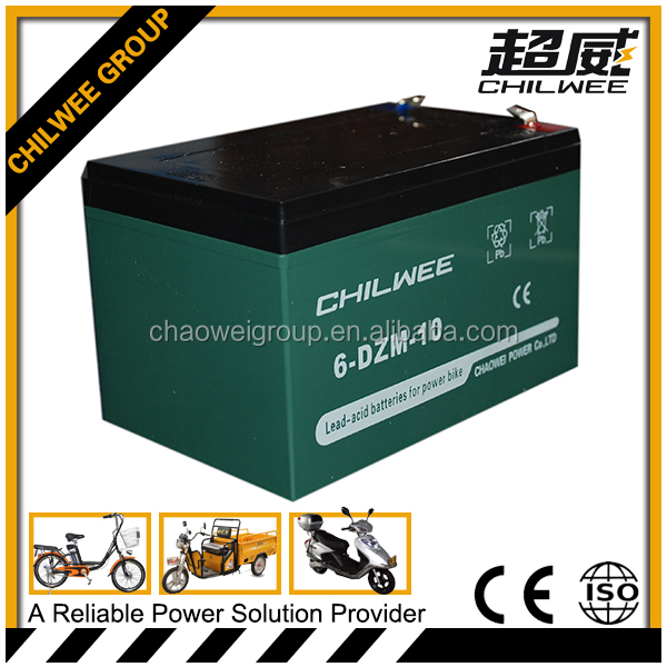 12v10Ah sealed lead acid(SLA) rechargeable battery for e-bicycle