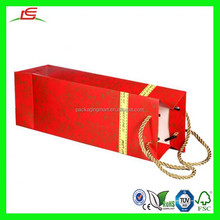 NZ162 Cheap Wine Bags Red Gold Tree Heavy Paper Gift Holiday Christmas Strong Handles Popular Paper Gift Bag
