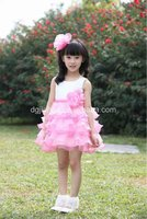 2012 newest girls flower dress /hot sale designs dress