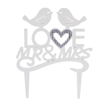 Wedding decoration with custom letter Mr&Mrs rhinestone wedding cake topper, wedding cake decoration