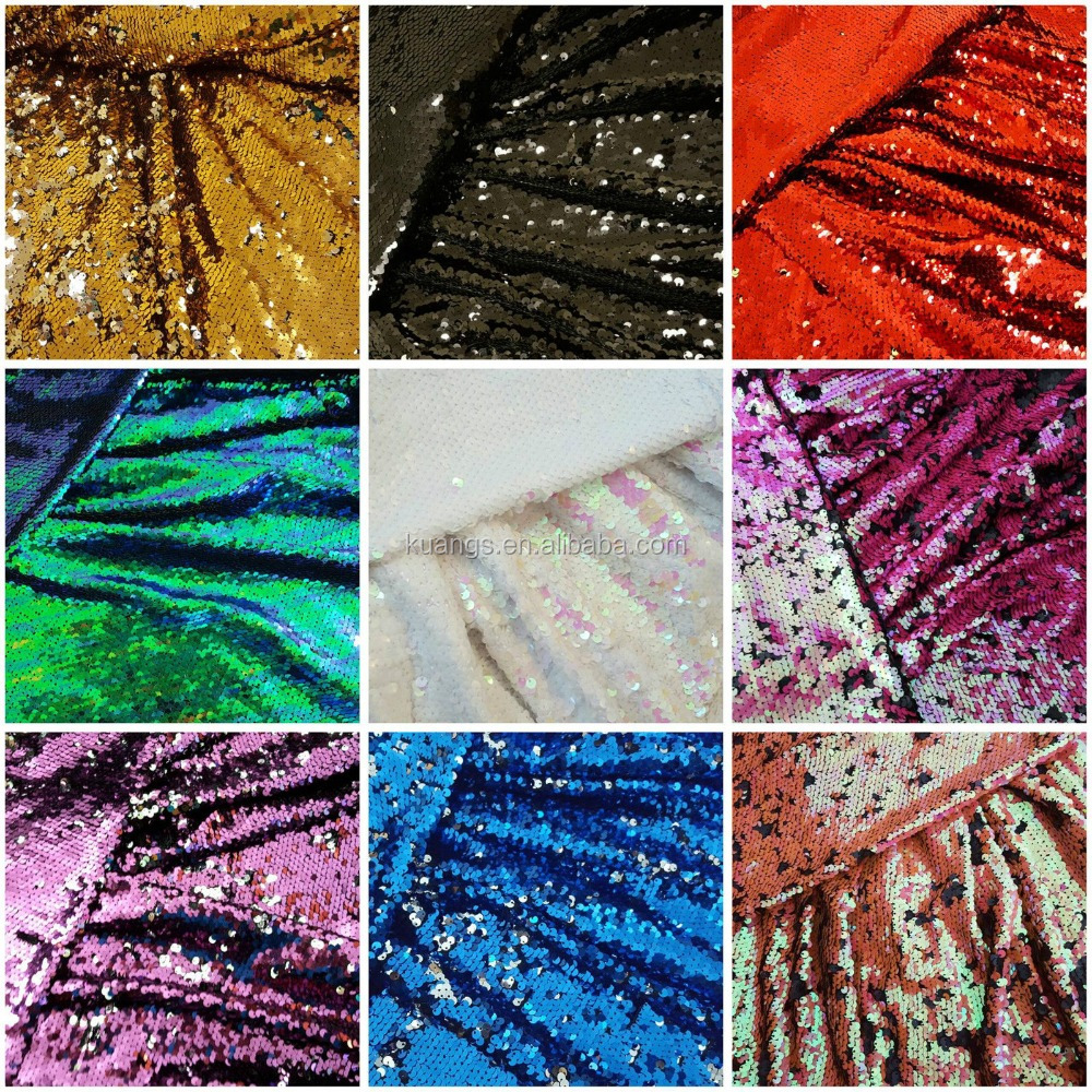 multi color mermaid sequin fabric