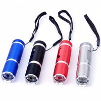 9V battery LED torch flashlight police security led flashlight