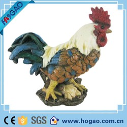 OEM decorative rooster statues, indoor decorative rooster animal figurine for sale, high quality custom rooster statue