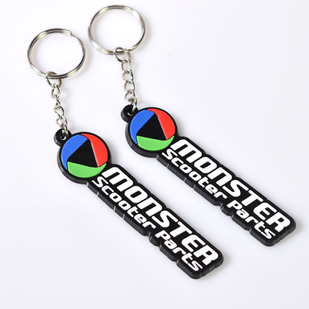 Top Quality Cheap Promotion Gifts Thick Rubber Plate Custom Car Logo Pvc Keychain