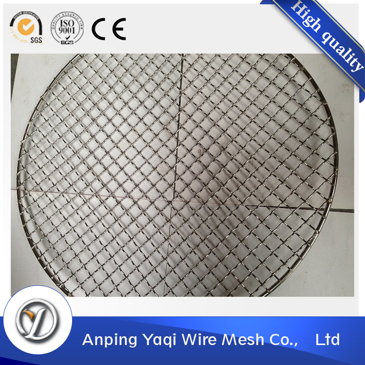 stainless steel round barbecue grill wire netting mesh