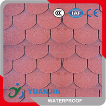Fiberglass Red Fish-scale Asphalt shingle, Architectural Roof Tiles