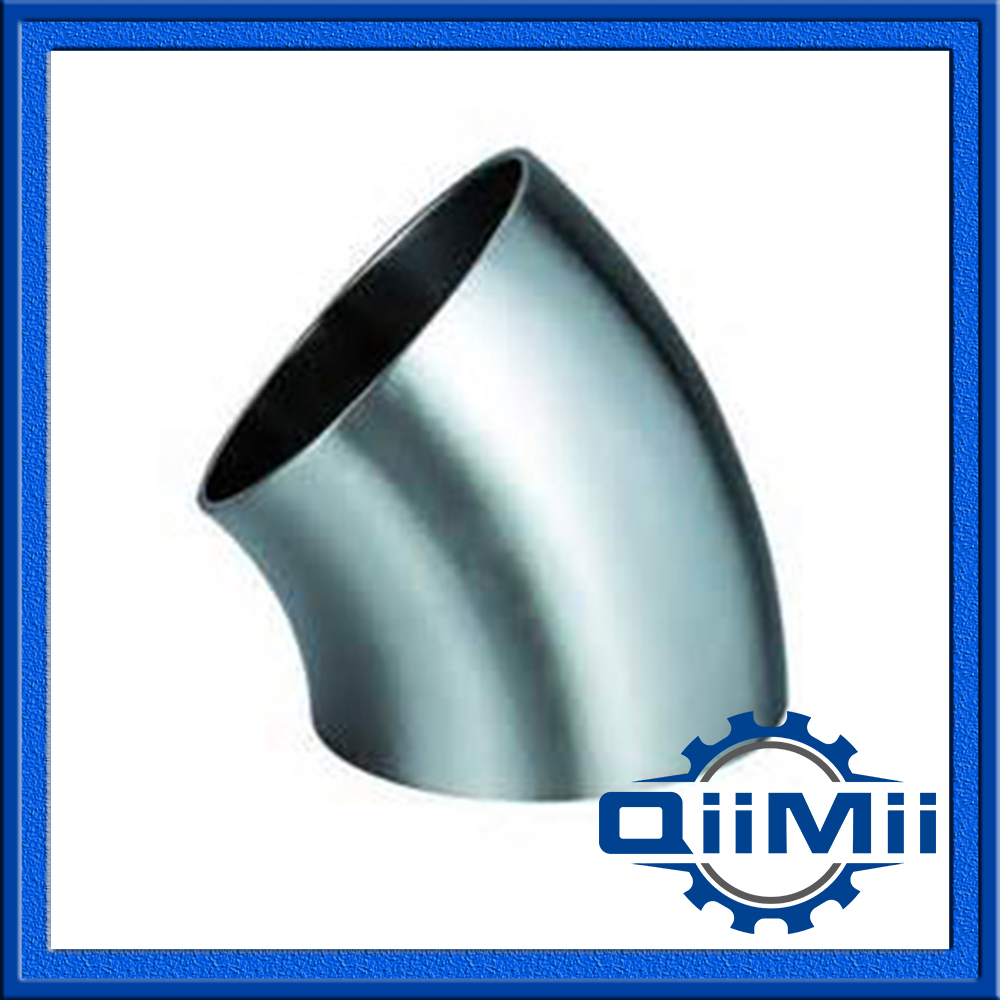 3A Stainless Food garde Weld 45 Degree Bend Pipe Fitting Elbow
