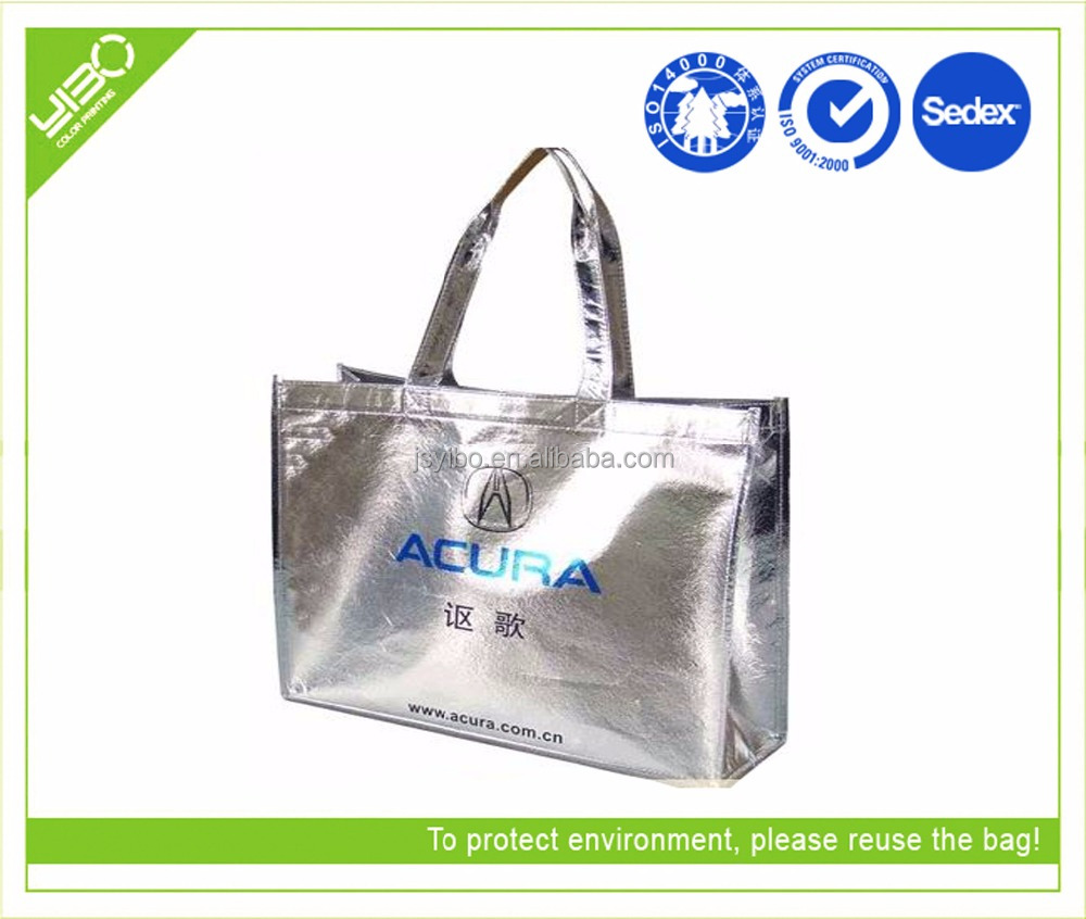 cheap laminated glossy non woven hand bag customized