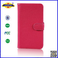 Lichee Pattern Leather Wallet Flip Case for LG E960 Nexus 4 - Cover Pouch Laudtec