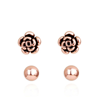Fashion jewelry set earring of Rose and Simple stud earring the bead shop philippines earring with balls