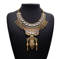 America Mexico Maxi Chunky Statement Metal wholesale fashion jewelry neck accessories for women 1140